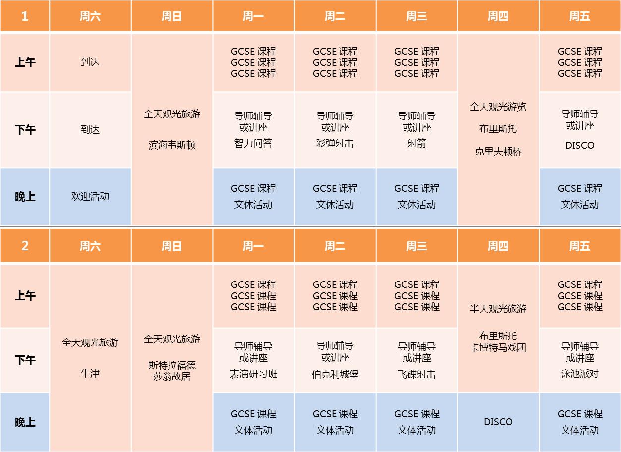 Sidcot GCSE Timetable 2016